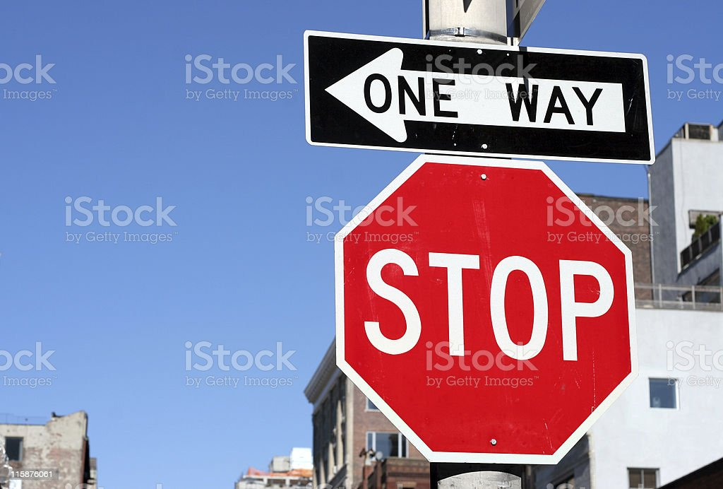 one way stop royalty-free stock photo