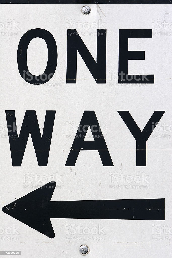 'One way' street sign royalty-free stock photo