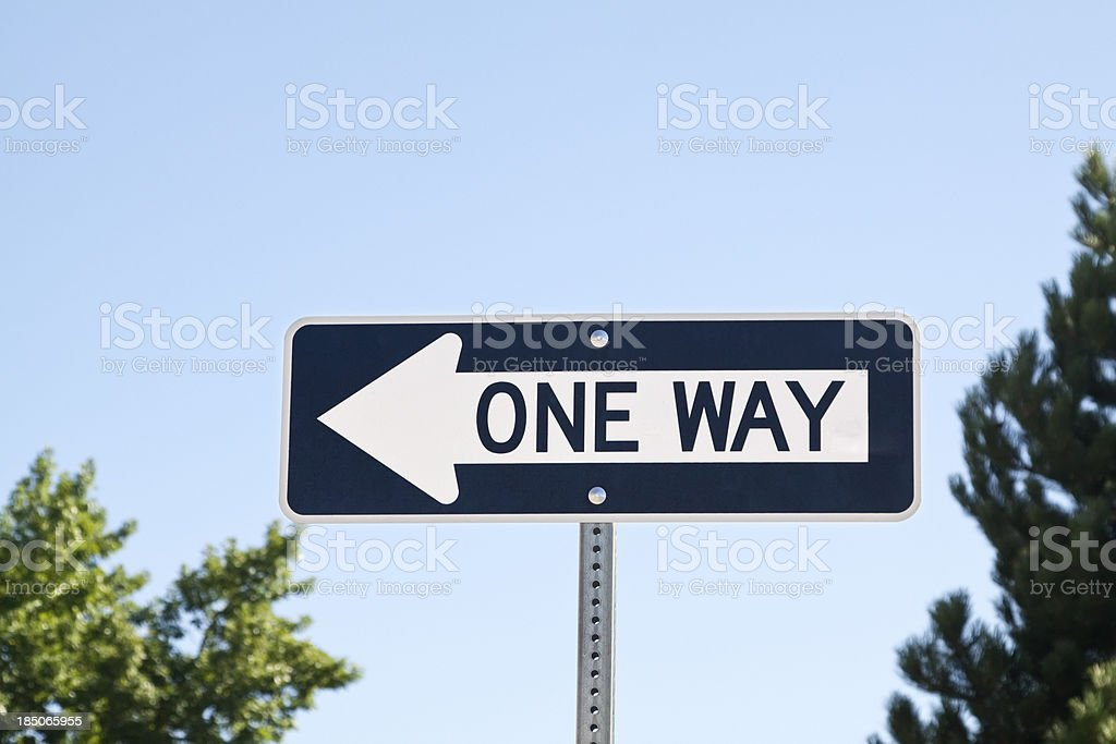 One way street sign royalty-free stock photo