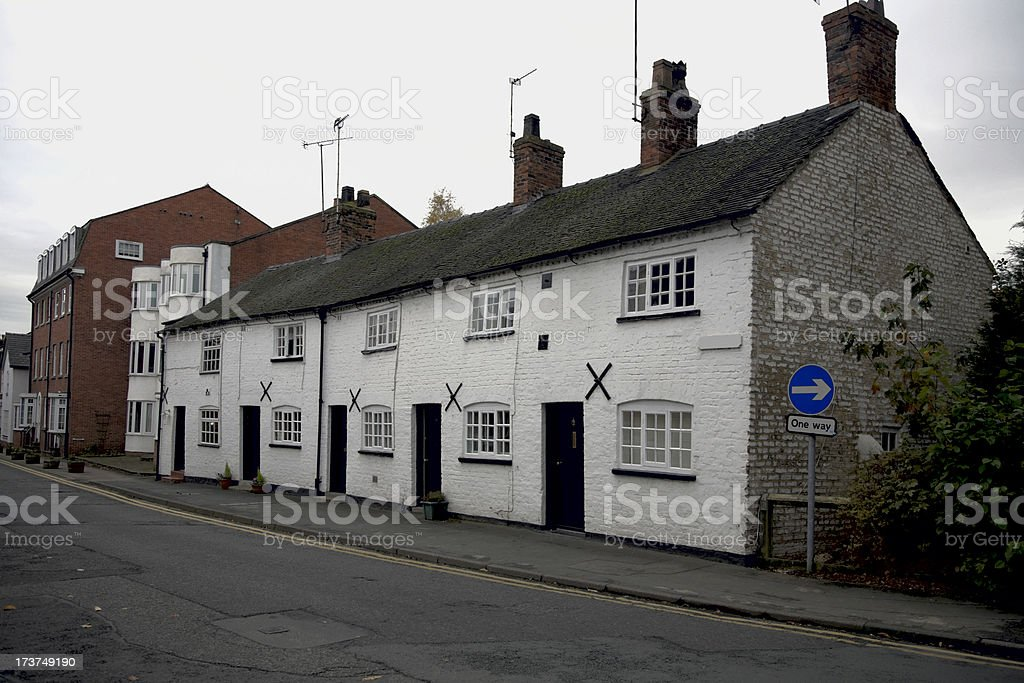 One Way Village Street, Knutsford, Cheshire, UK-More below royalty-free stock photo