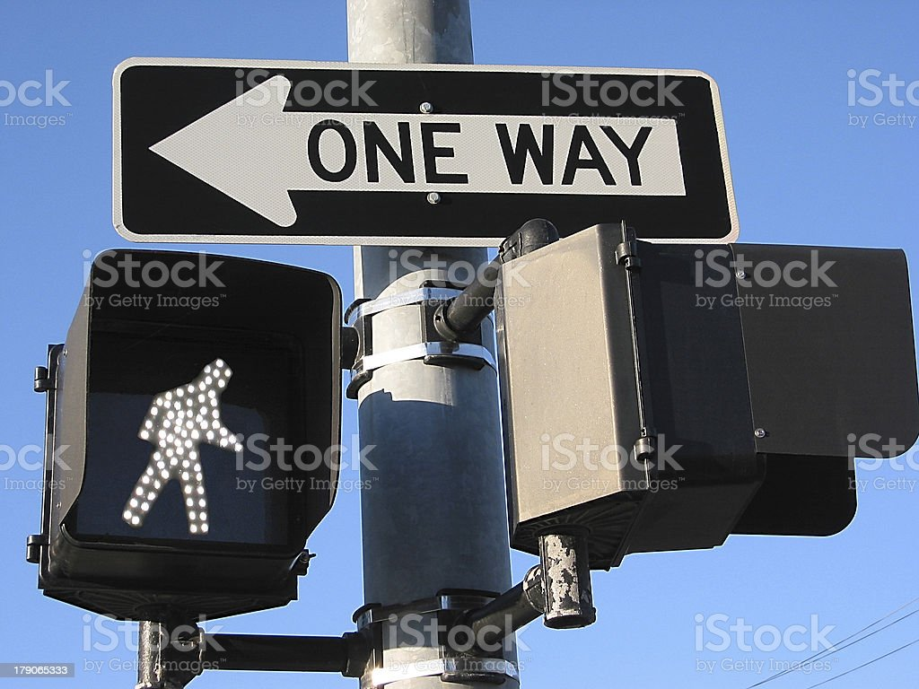 One Way, Walk royalty-free stock photo