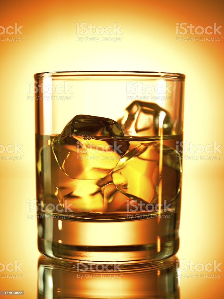 One whiskey royalty-free stock photo