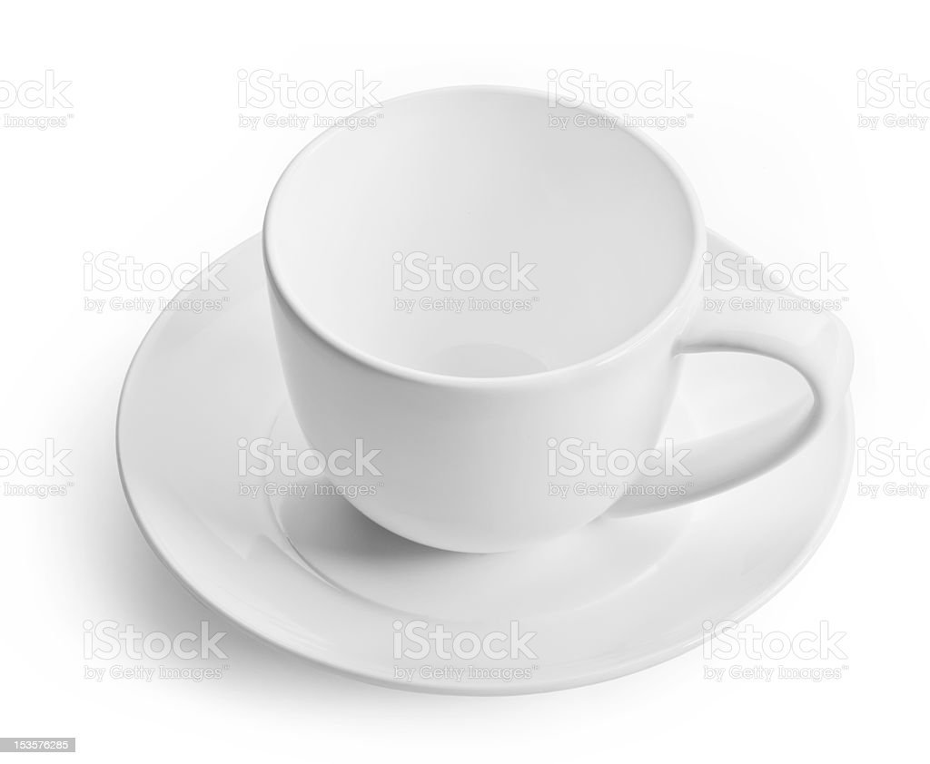 one white empty coffee cup royalty-free stock photo