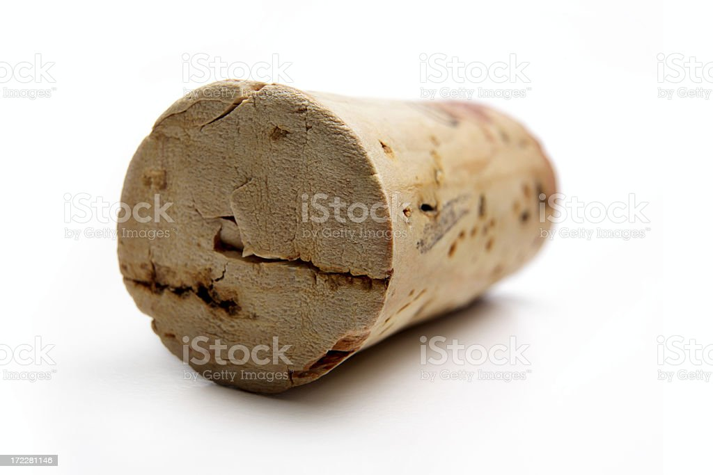 One wine cork (serie of images) royalty-free stock photo