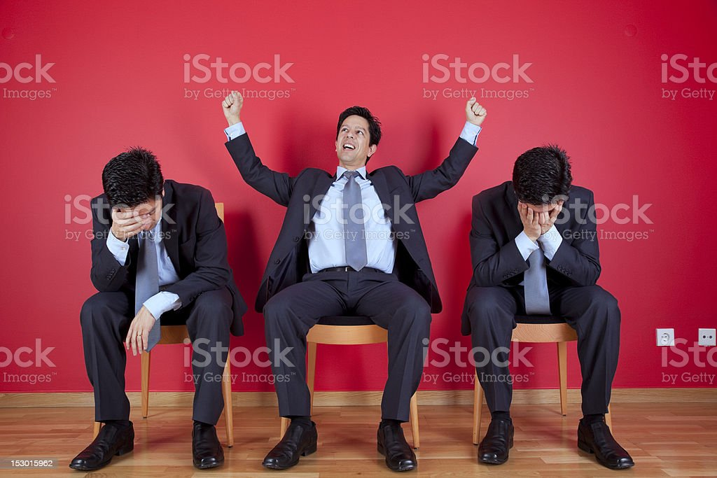 One winner and two loosers royalty-free stock photo