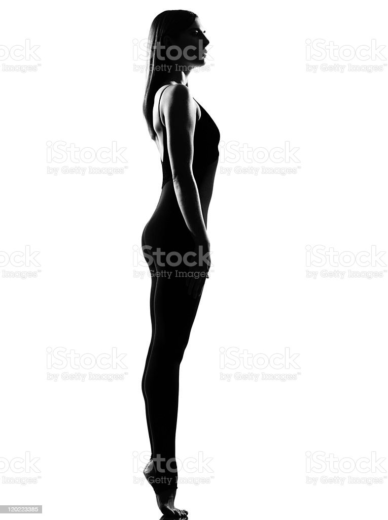 one woman ballet dancer ballerina standing pose royalty-free stock photo