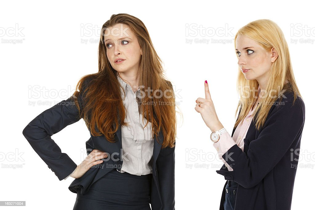 One Woman Warns Another royalty-free stock photo