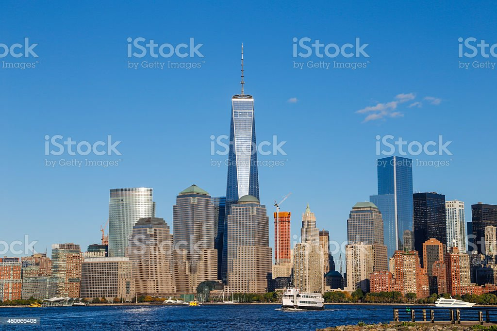 One World Trade Center and Financial District stock photo