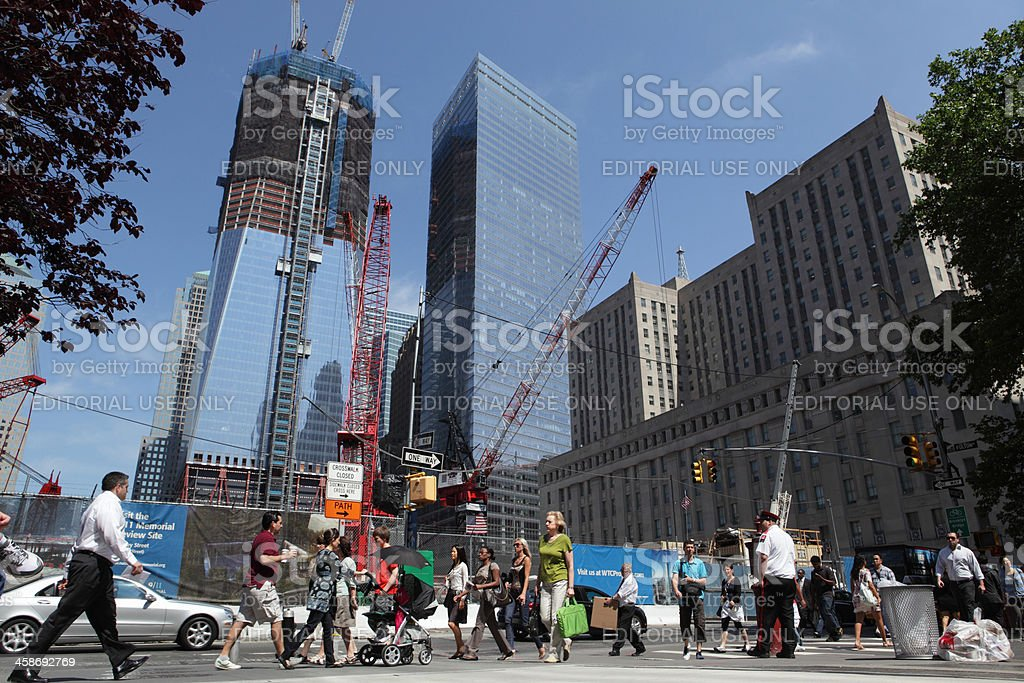 One World Trade Center and Ground Zero construction stock photo