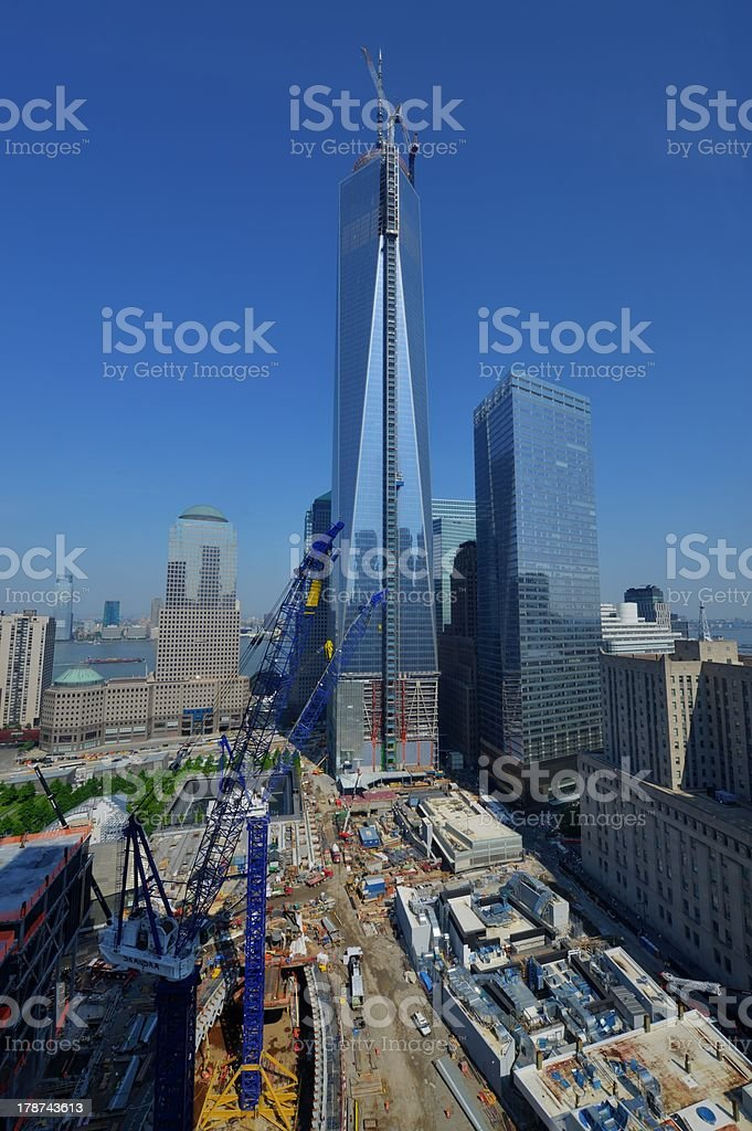 One World Trade Center Construction stock photo