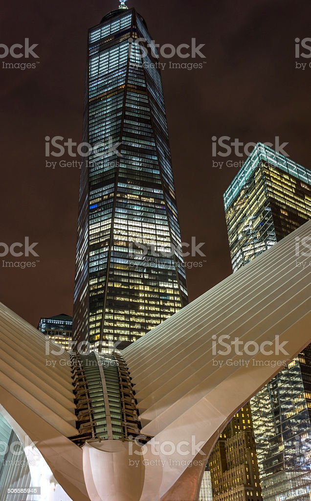One world trade center, freedom tower stock photo