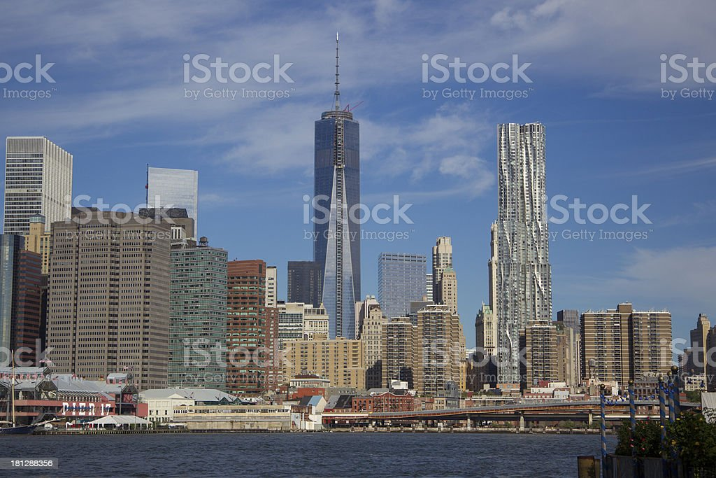 One World Trade Center from Brooklyn royalty-free stock photo