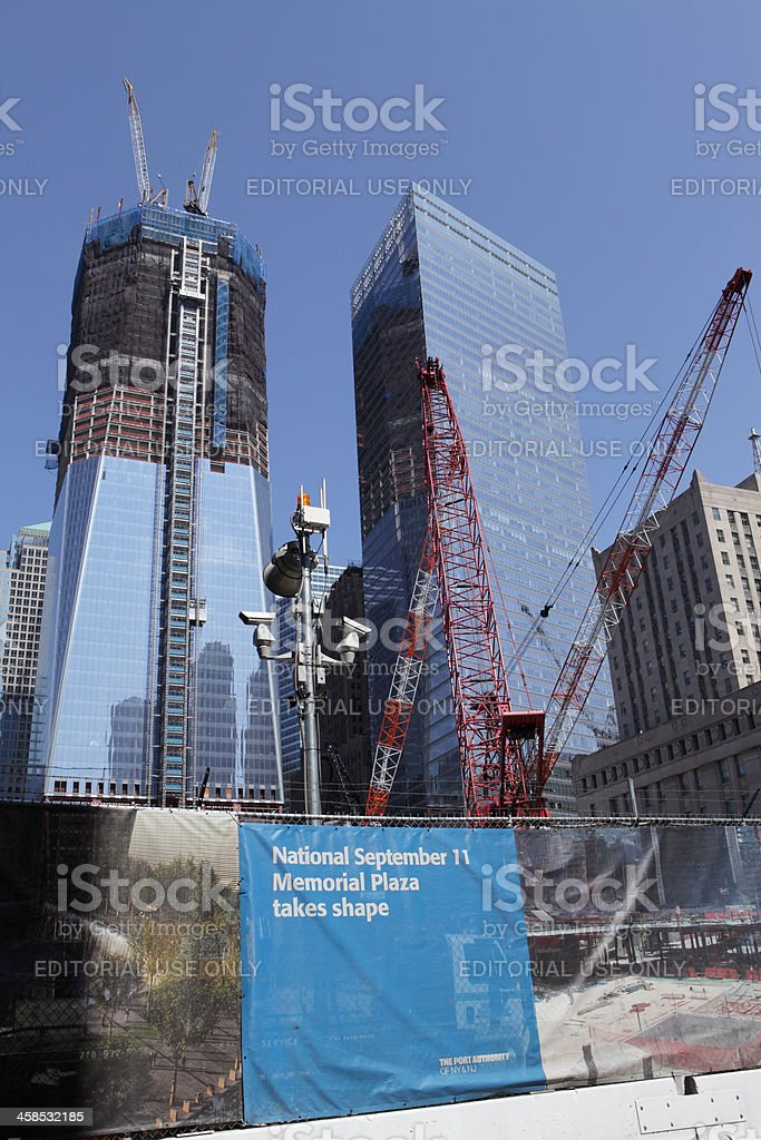 One World Trade Center Ground Zero New York stock photo