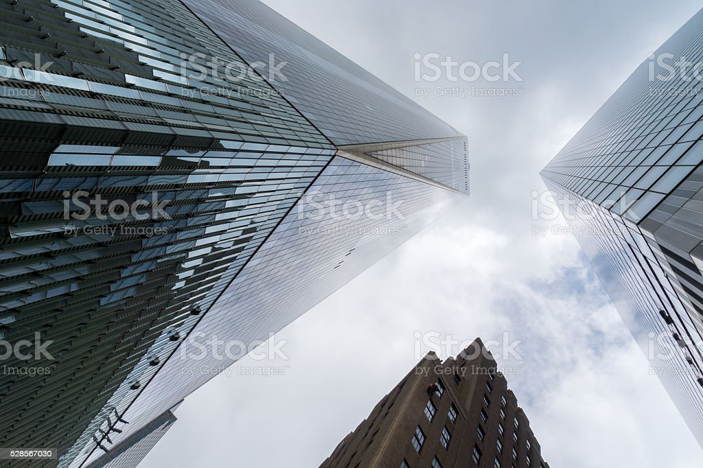 One World Trade Center, Looking Up stock photo