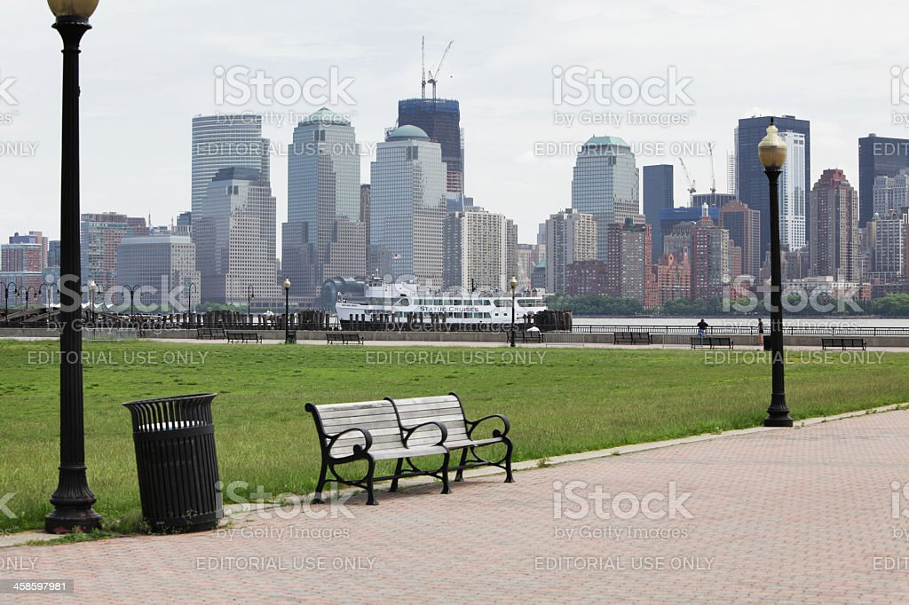 One World Trade Center Tower Under Construction at Ground Zero royalty-free stock photo