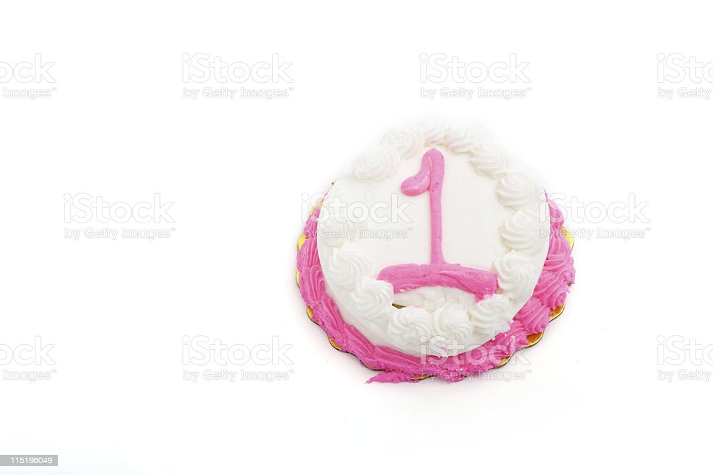 one year birthday cake portraits royalty-free stock photo