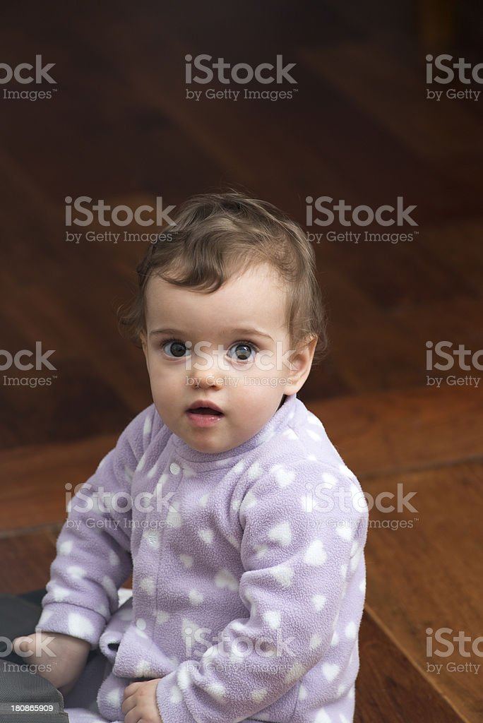 One year old girl royalty-free stock photo