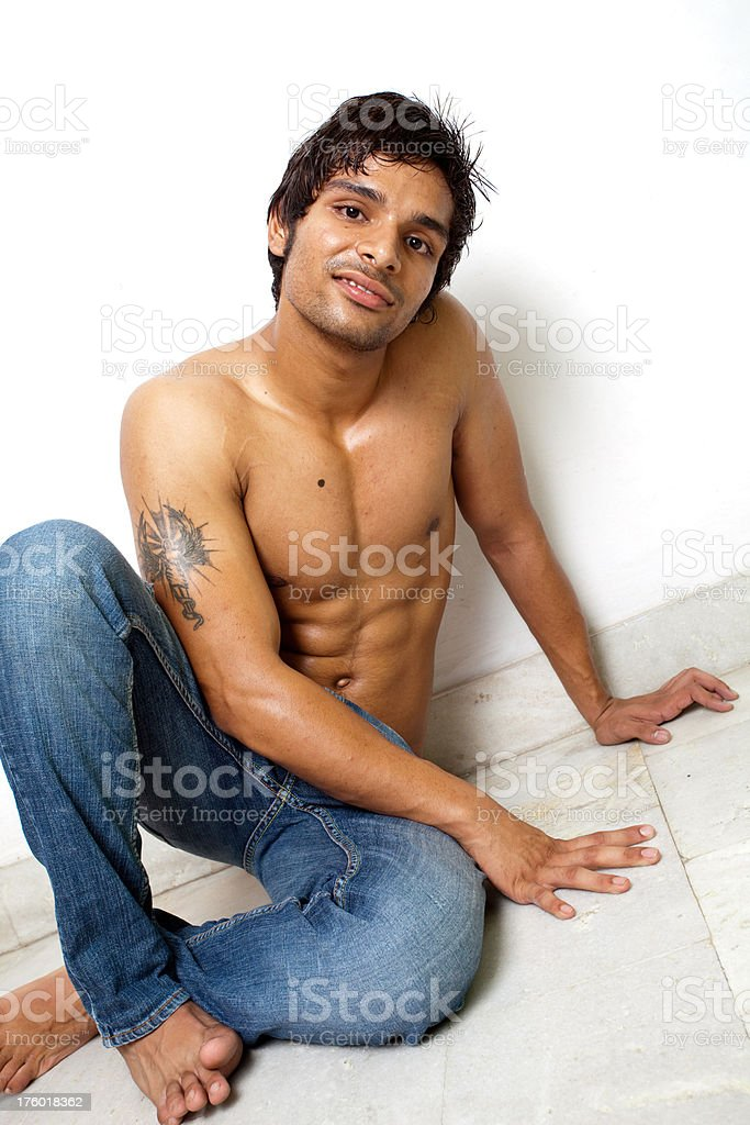 One Young Indian Boy with fit body royalty-free stock photo