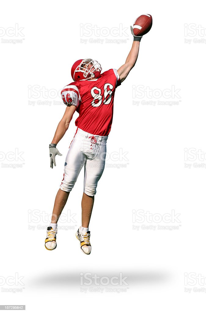 One-Handed Catch with Clipping Path royalty-free stock photo
