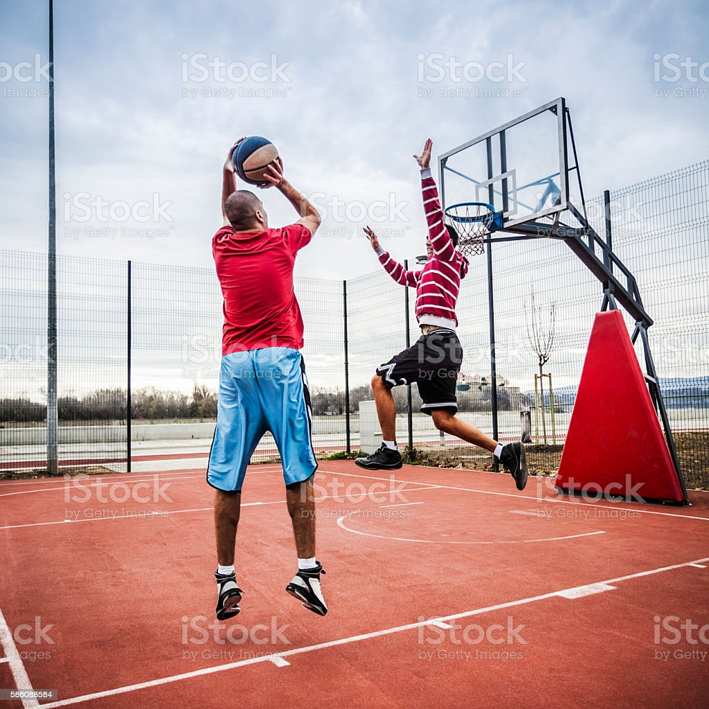 One-on-one stock photo