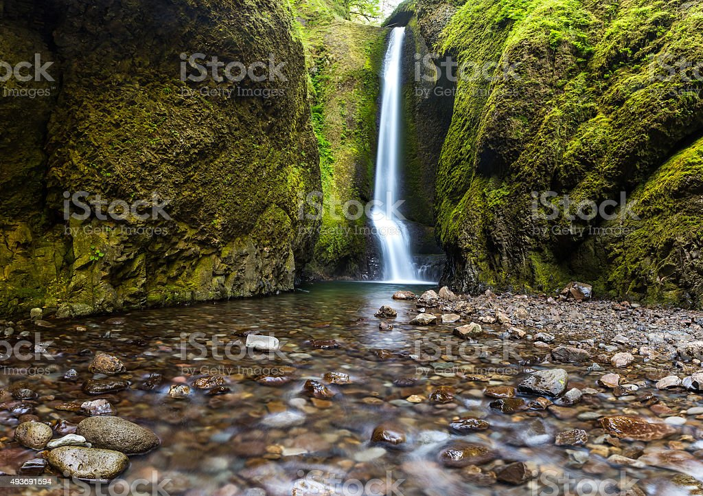 Oneonta falls in summer, Columbia river gorge, Oregon stock photo