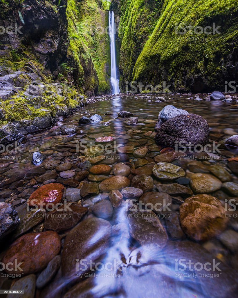 Oneonta Falls stock photo