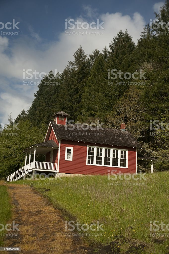 One-room schoolhouse stock photo