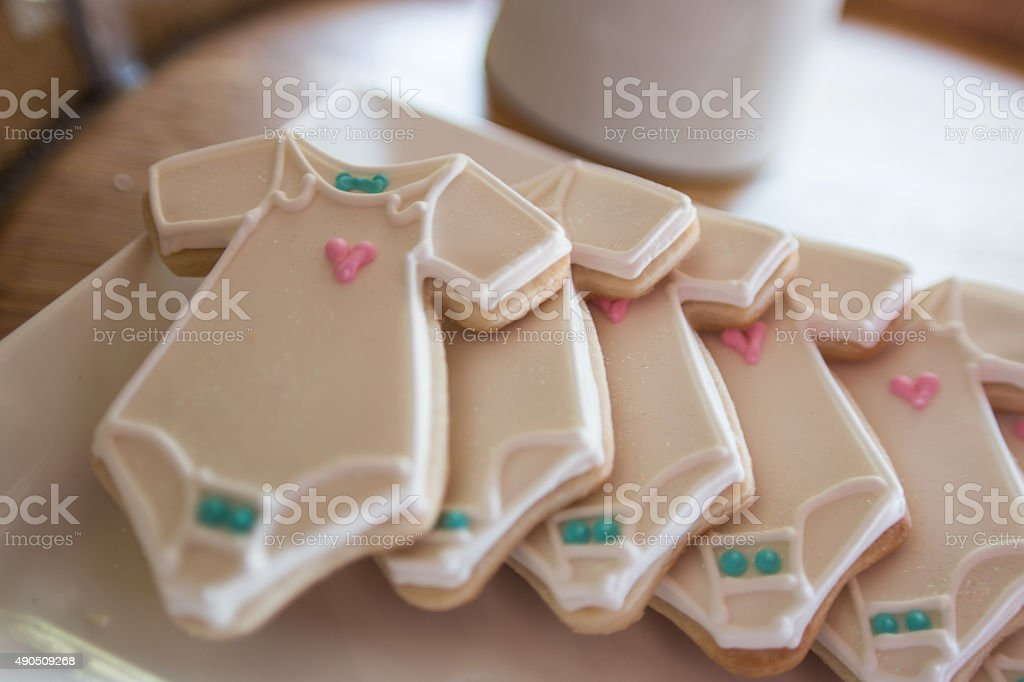 Onesies cookies stock photo