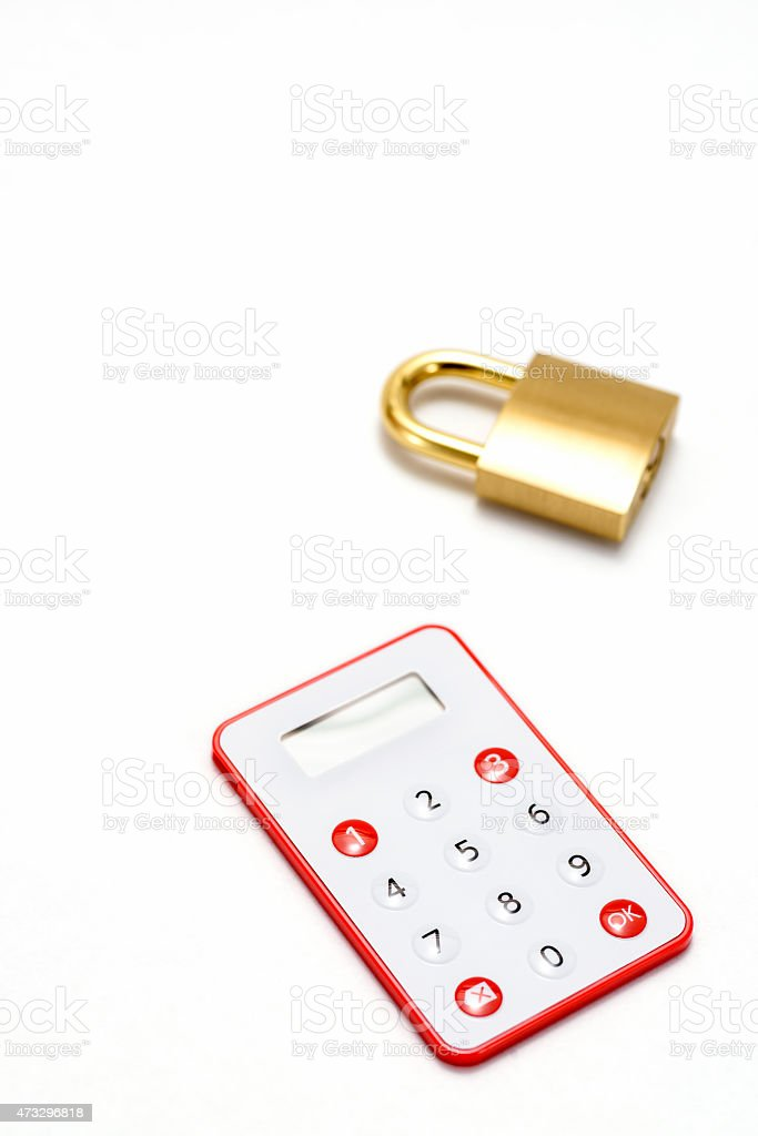 One-Time Password Card stock photo