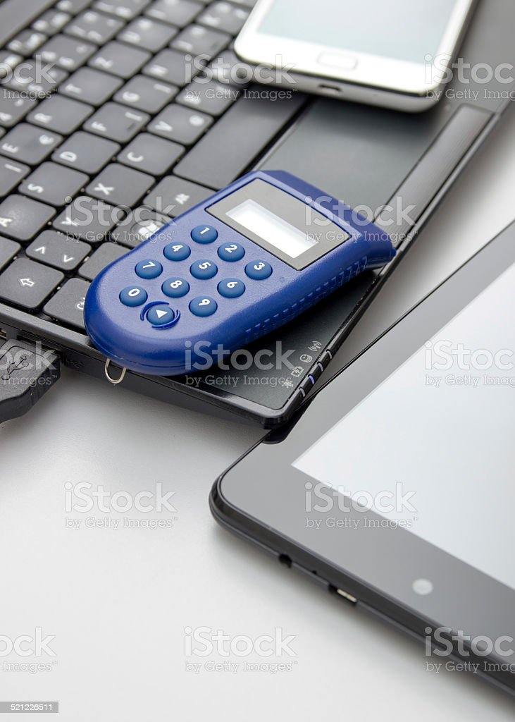 One-time password ,e banking stock photo