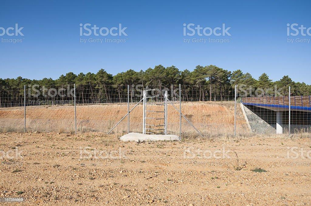 One-way deer gate stock photo