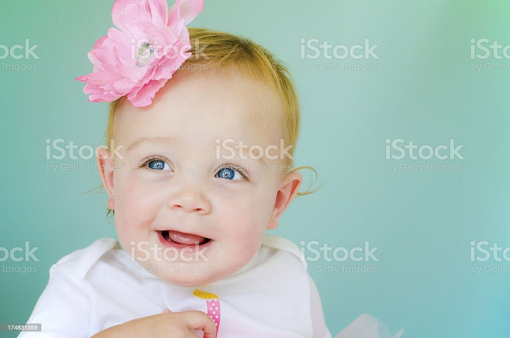 One-year old baby royalty-free stock photo