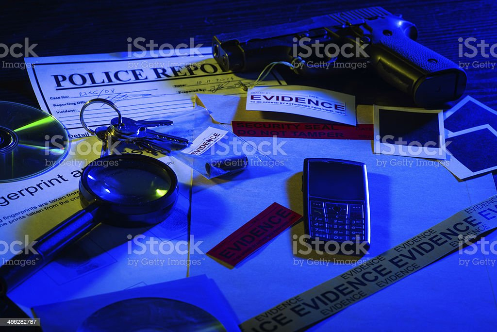 Ongoing police research stock photo