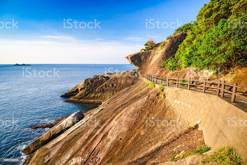 Onigajo Coastline in Japan stock photo