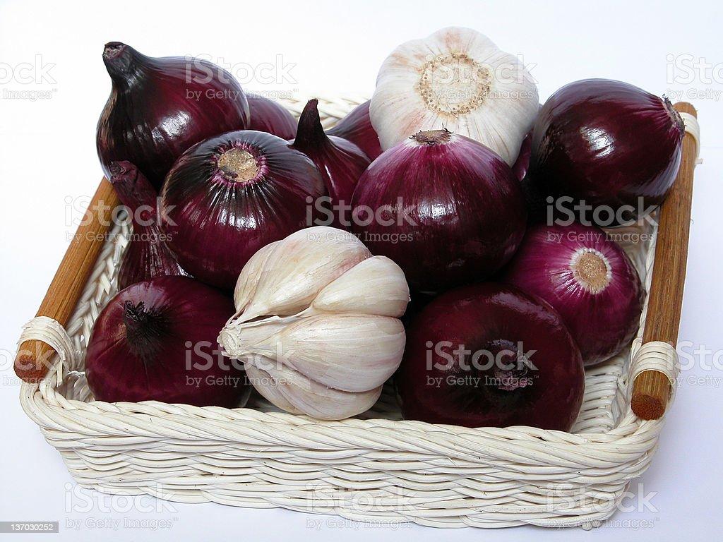 onion and garlic royalty-free stock photo
