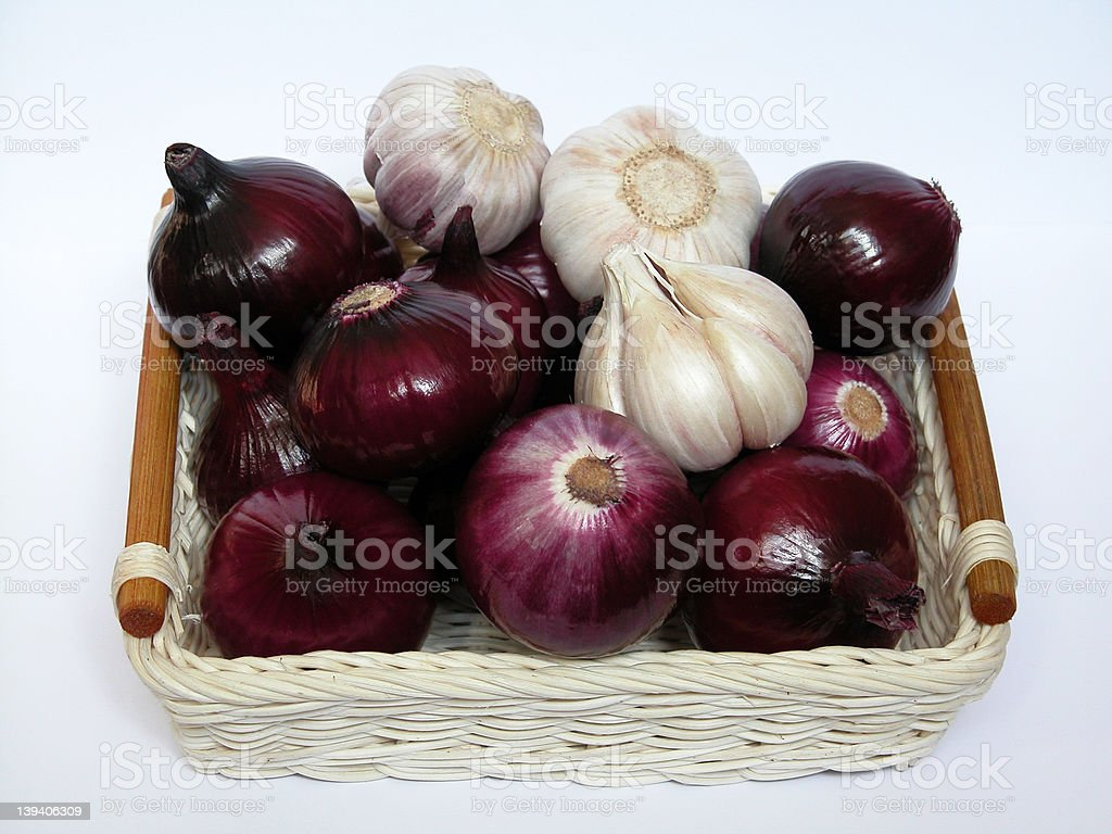 onion and garlic royalty-free stock photo