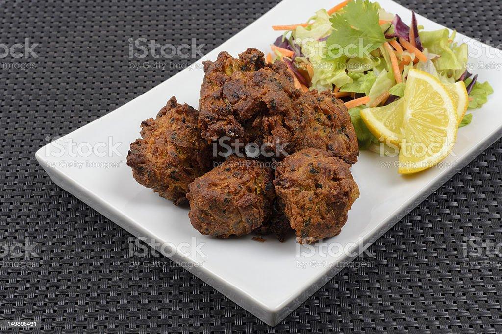 Onion Bhajis royalty-free stock photo