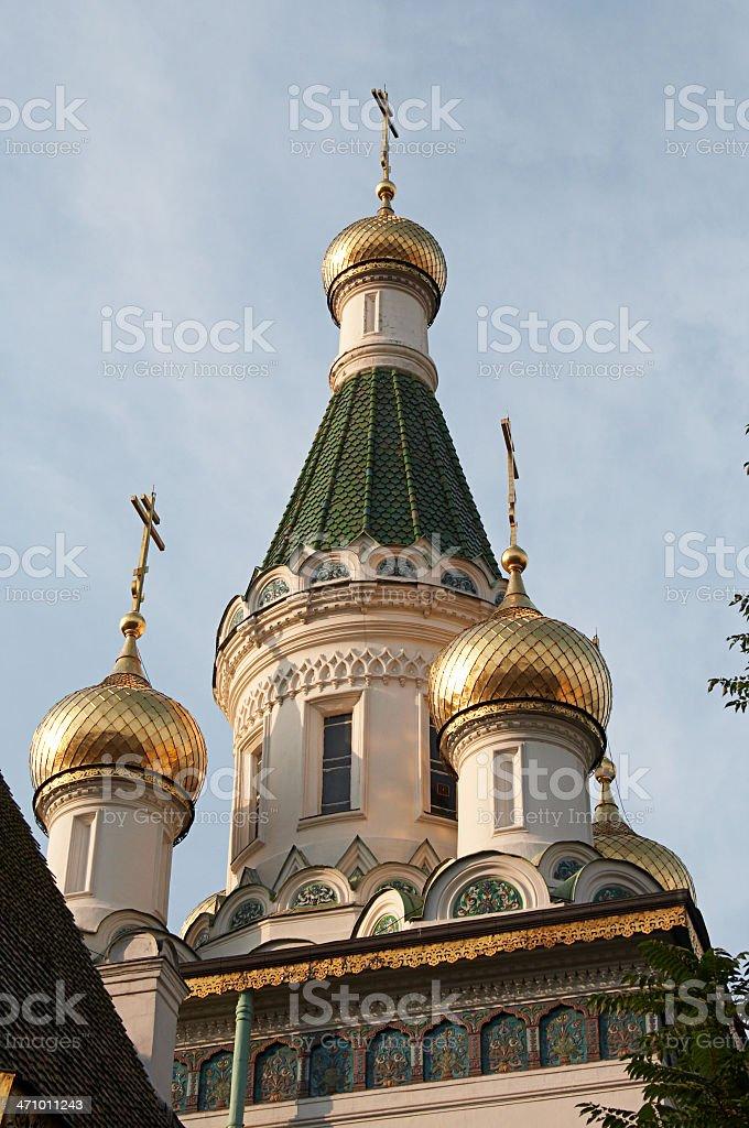 Onion Domed Church stock photo