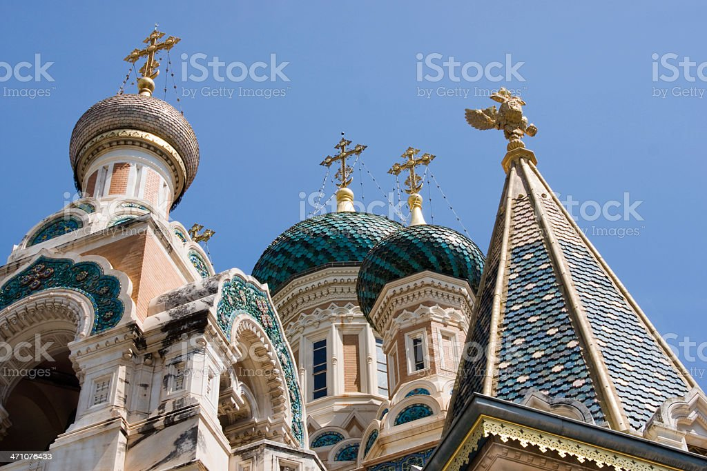 Onion Domes in France royalty-free stock photo