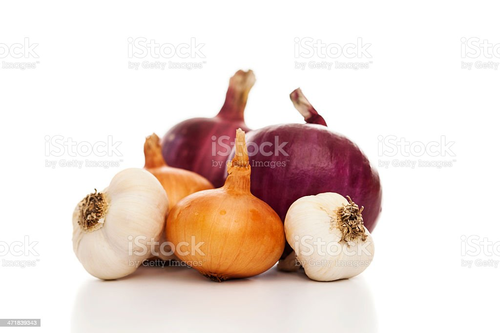 Onion family royalty-free stock photo