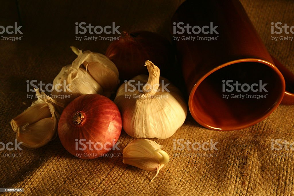 onion & garlic royalty-free stock photo