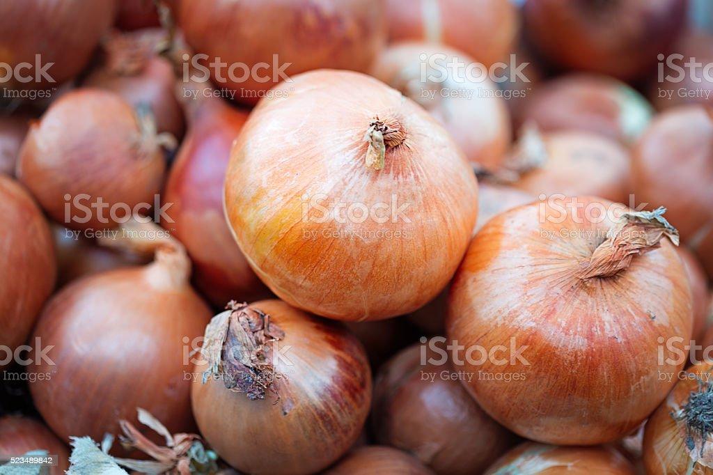 Onion heap stock photo
