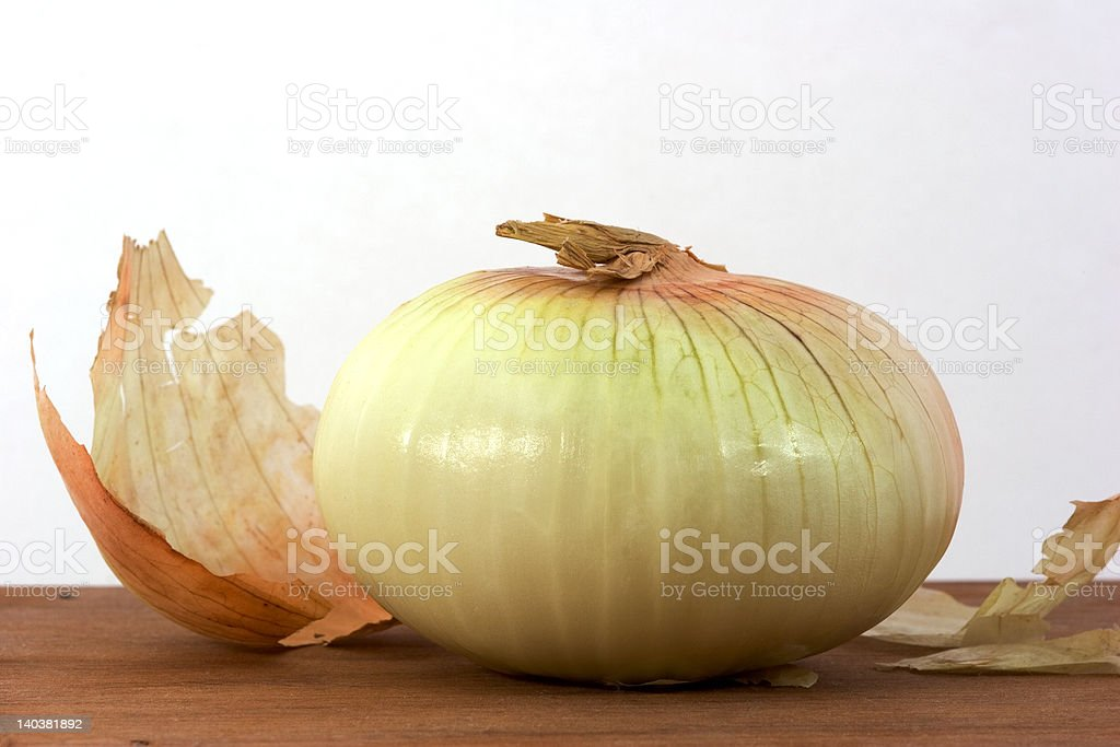 Onion on Board stock photo