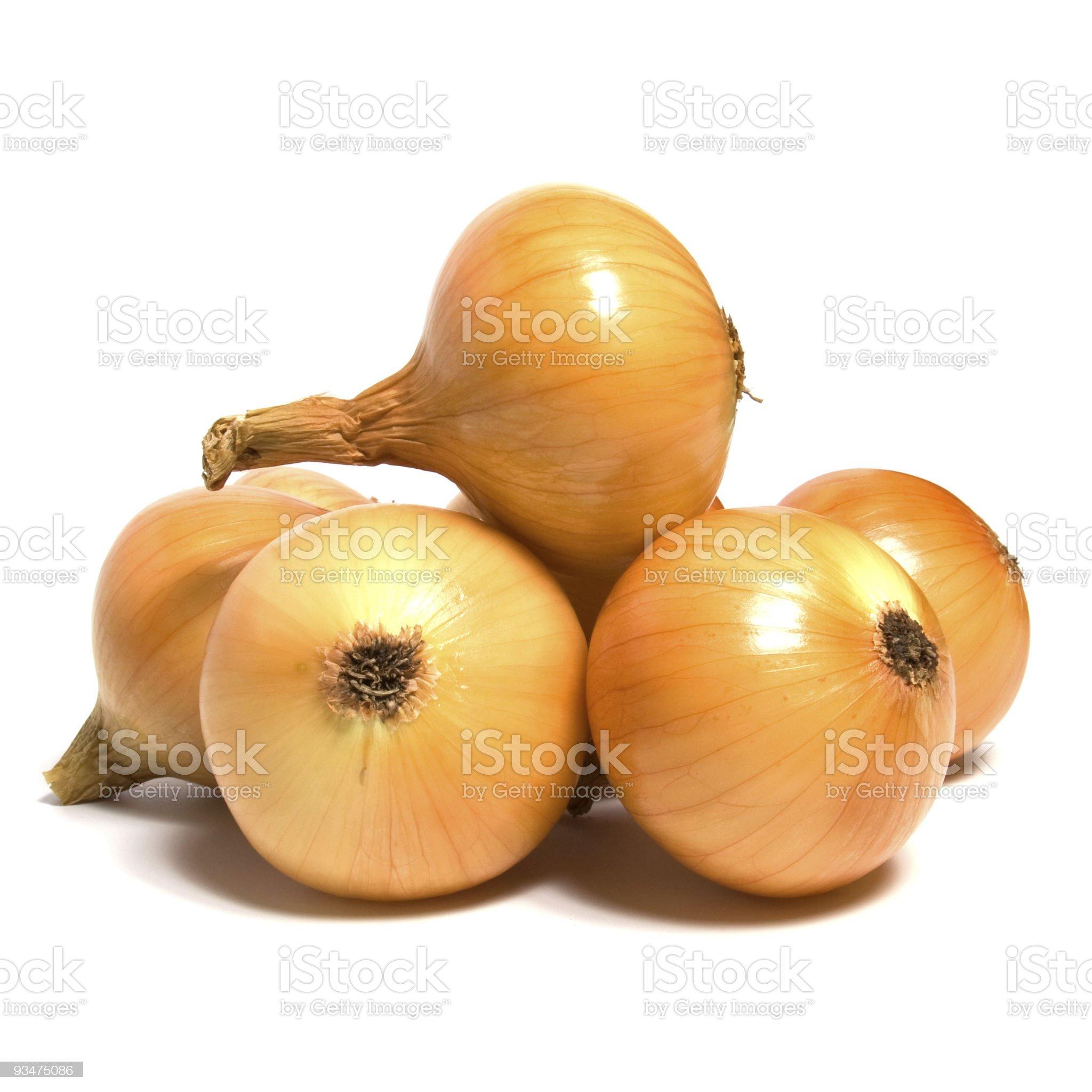 onion  on white background royalty-free stock photo