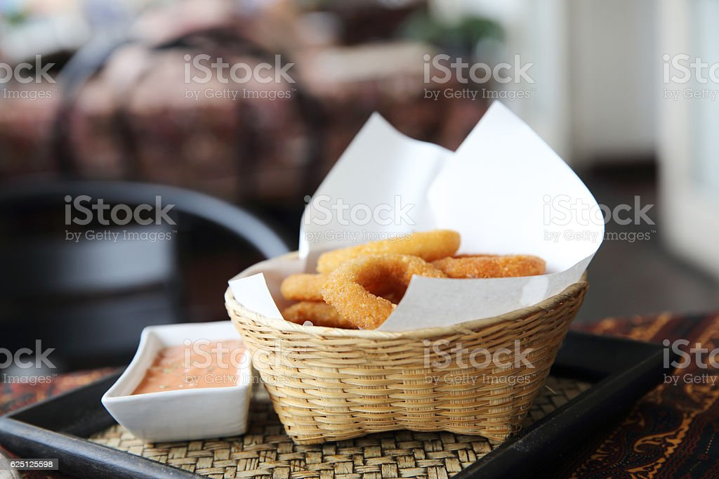 onion rings italian food stock photo