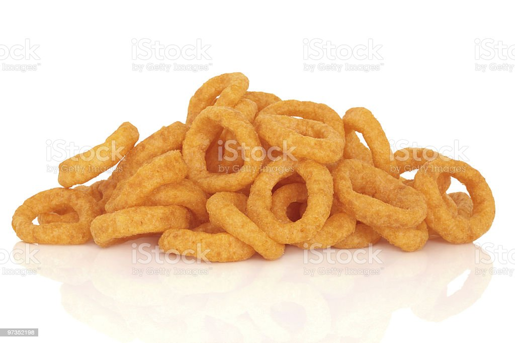 Onion Rings Snack stock photo