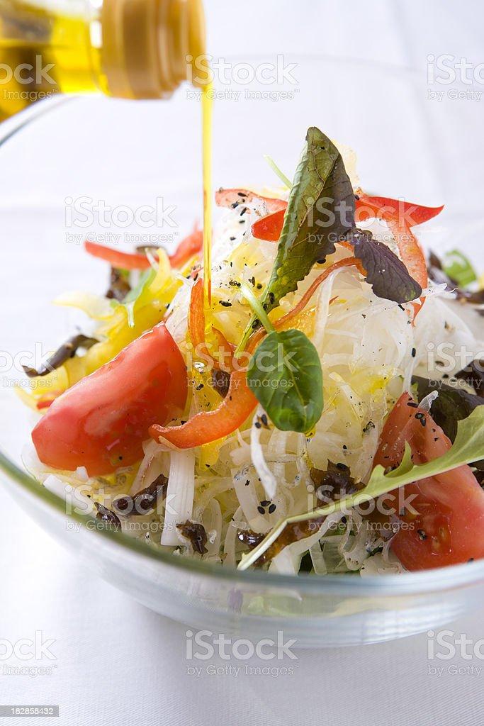 Onion salad royalty-free stock photo