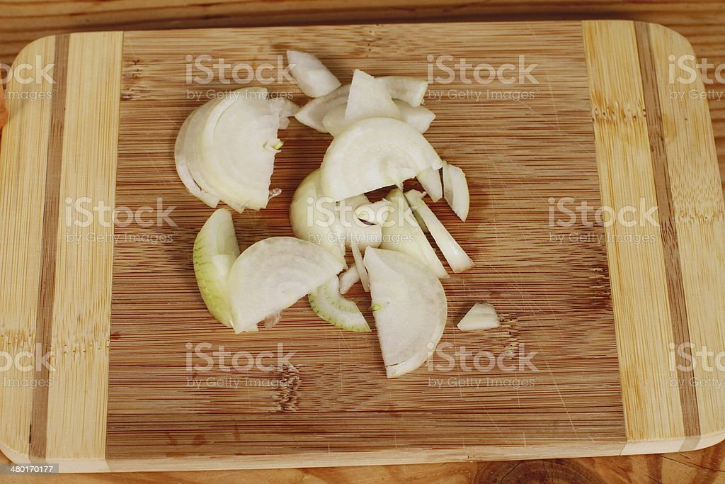 Onion slice stock photo