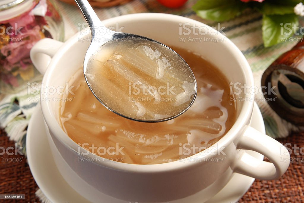 Onion soup stock photo