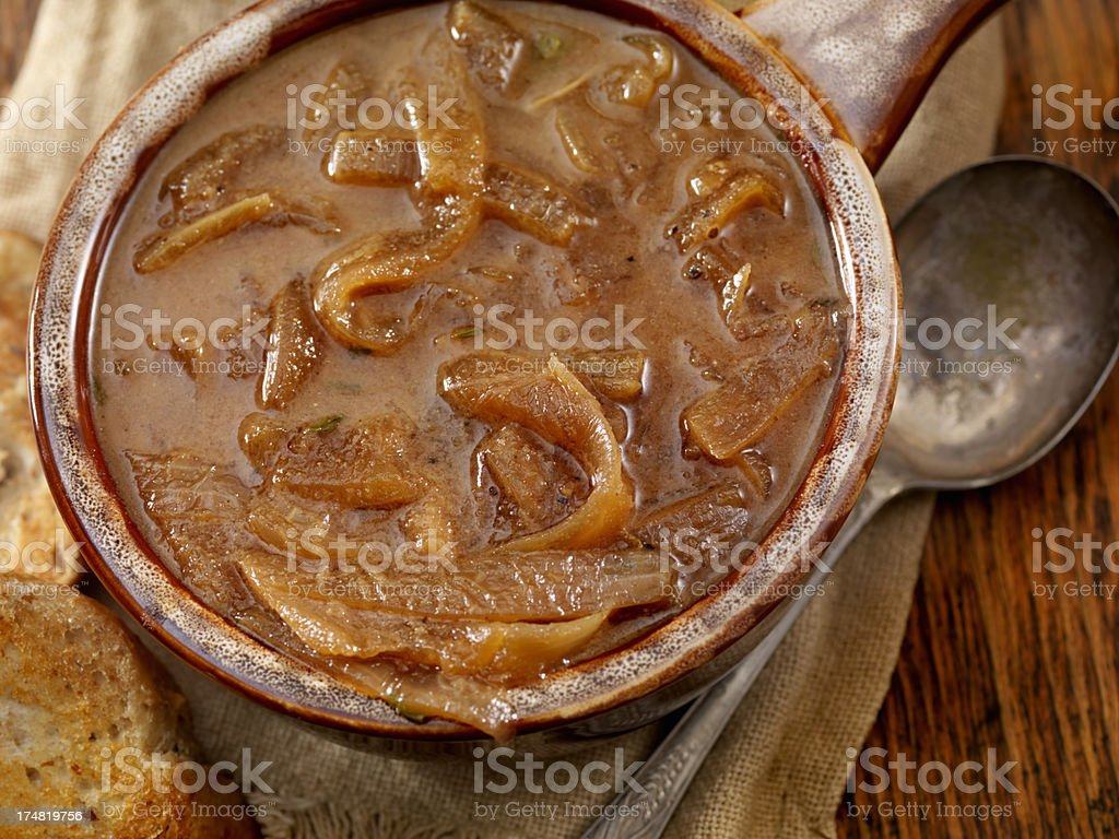 Onion Soup royalty-free stock photo